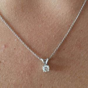 Diamond Stud Necklace
